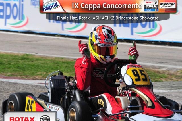 Alex vinner Max junior med DR Racingkart i Italia